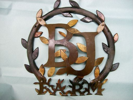 Custom Made Tender Leaf Monogramed Insignia