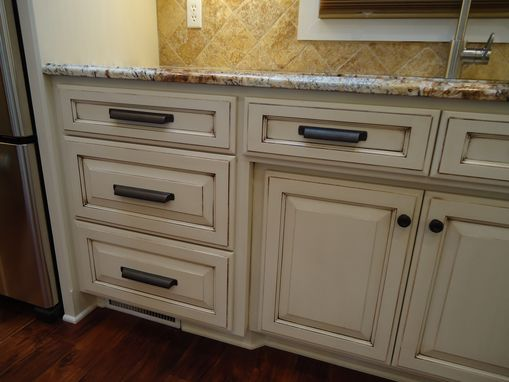 Custom Made Painted Kitchen With Glaze