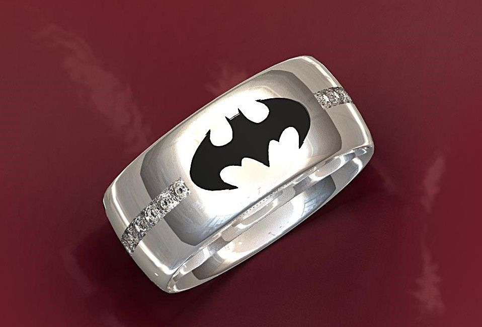 custom made dark knight batman wedding ring - Custom Made Wedding Rings