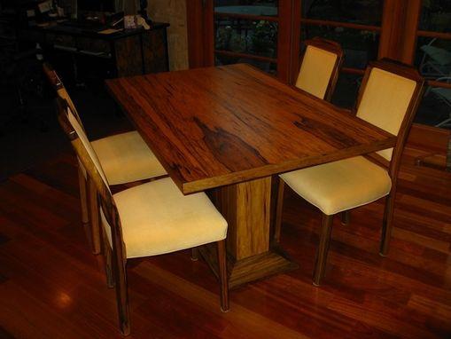 Custom Black Limba Table Amp Chairs By Sheridan Woodworking