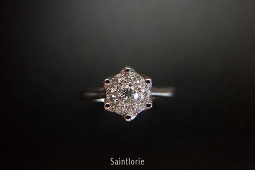 Custom Made 0.07 Carat Diamond Engagement Ring
