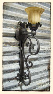 Custom Made Metal Wall Sconce