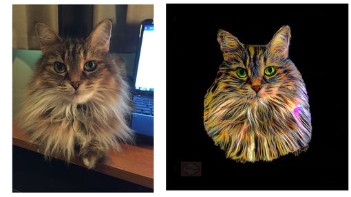Custom Made Custom Pet Cat Portrait Painting