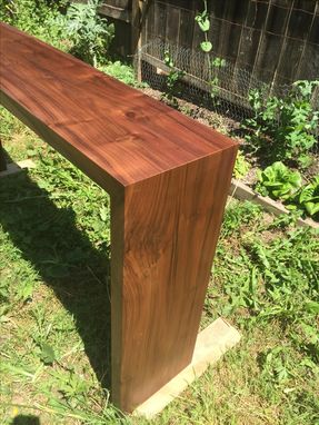 Custom Made Western Walnut Waterfall Console Table