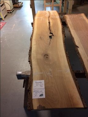 Custom Made Black Walnut Live Edge Slab