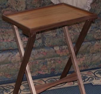 Custom Made Solid Hardwood Tv Tray Tables With A Lip