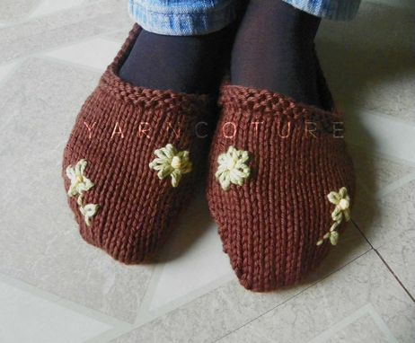 Custom Made Everyday Slippers - In Brown - Cool Absorbent Cotton