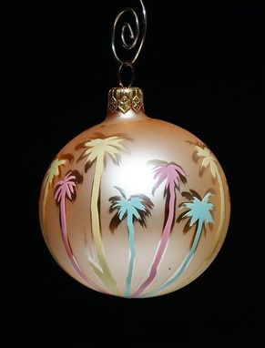 Custom Made Art Collectible Hand Painted Christmas Ornaments