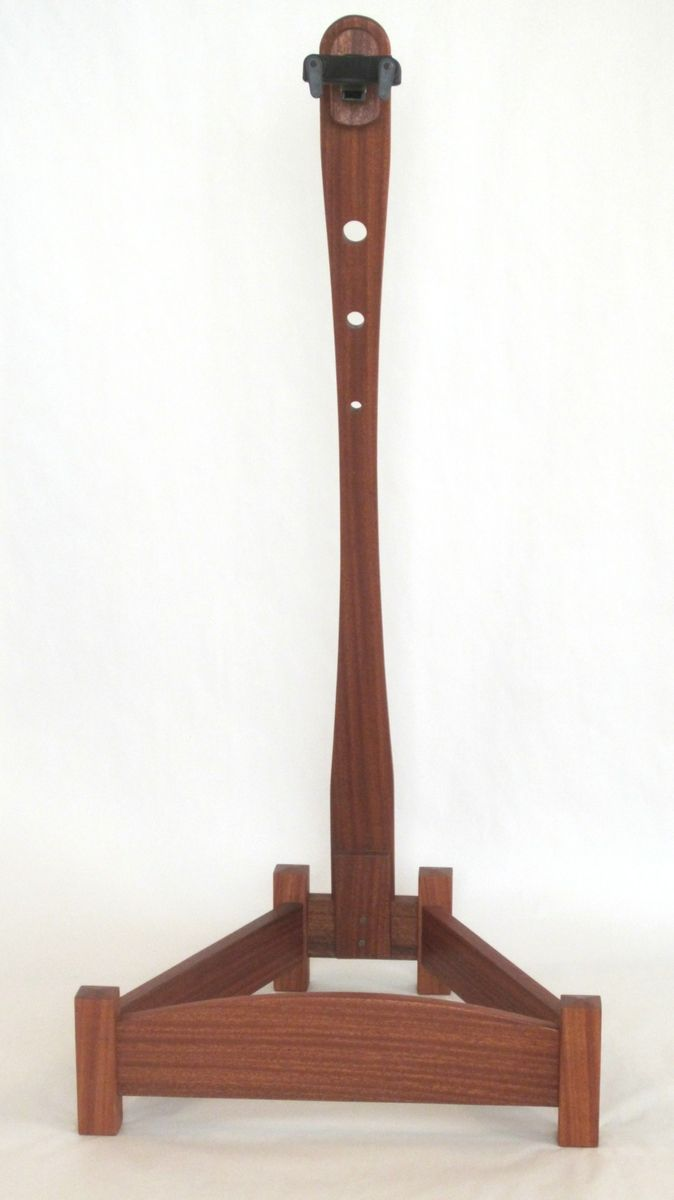 Hand made sapele wood custom guitar stand by reed s