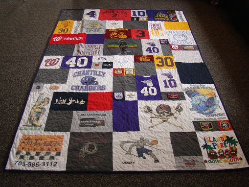 Custom Made Twin Size Custom Tshirt Quilt