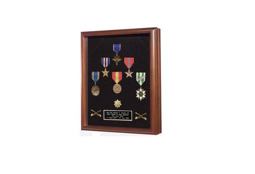 Custom Made Medal Case - Wood And Shadow Box