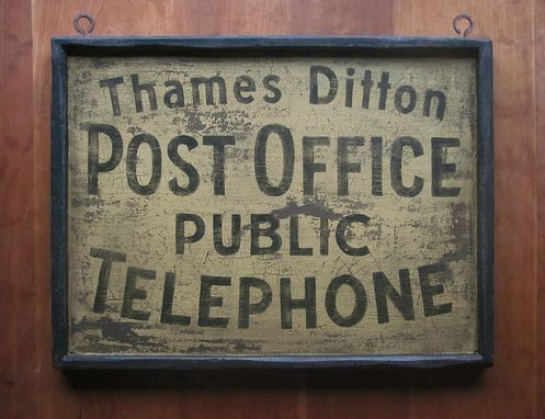 Custom Made Vintage Sign Art: Thames Ditton Post Office