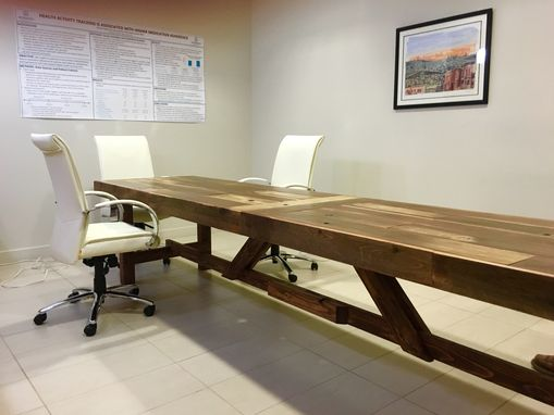 Custom Made Extra Long Reclaimed Wood Conference Table