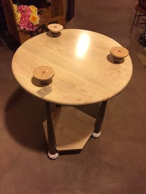 Custom Made Cave Room Table With Coasters.