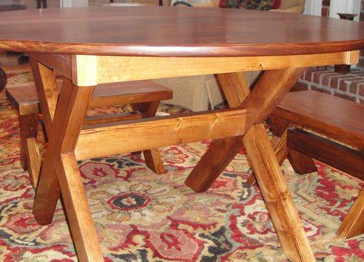 Custom Made R2 Custom Round Table Made From Monterey Select Pine