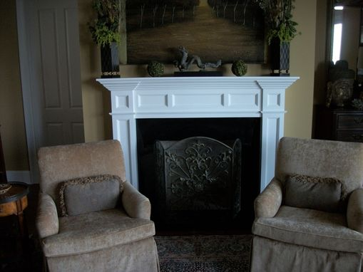 Custom Made Bookcase, Mantle Surround, And Elevator Trim