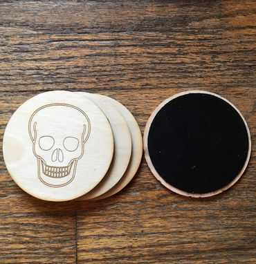 Custom Made Laser Cut Customizable Coasters