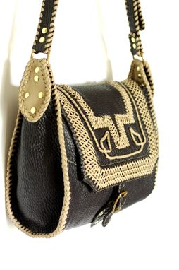 Custom Made Carlota / A Classic Leather Handbag With Authentically Colombian Detail