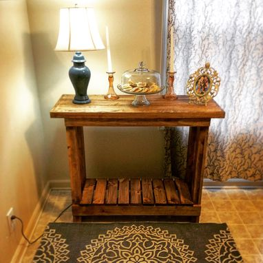 "Custom Made Rustic ""X"" Console Table"
