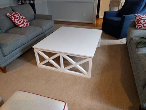 "Custom Made Solid Maple ""X-Leg"" Coffee Table"