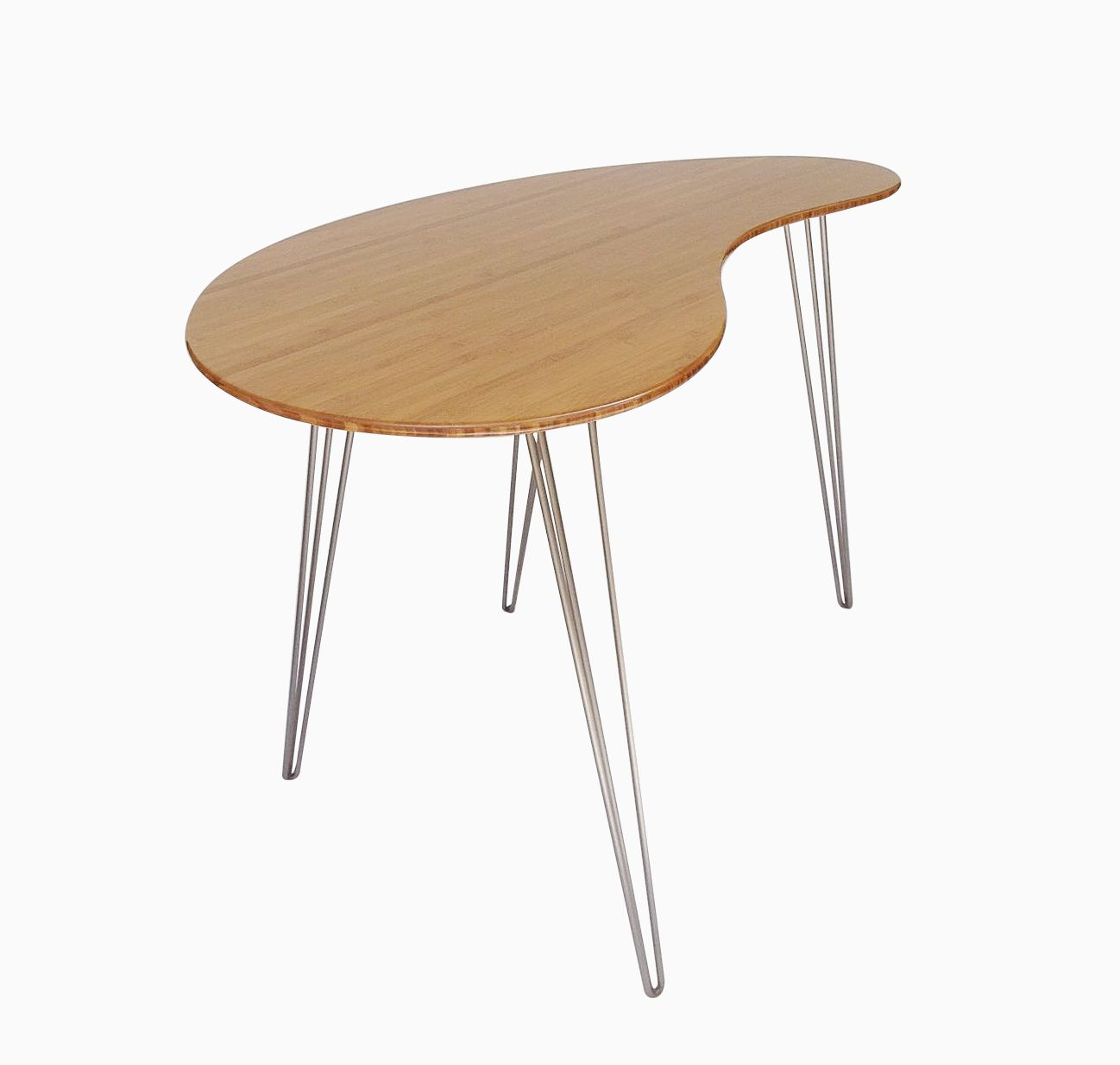 Custom Made Standing Desk, Kidney Shaped, Mid Century Modern