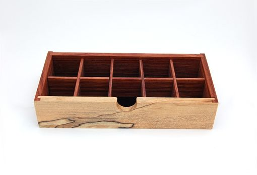 Custom Made Bubinga And Spalted Maple Jewelry Box