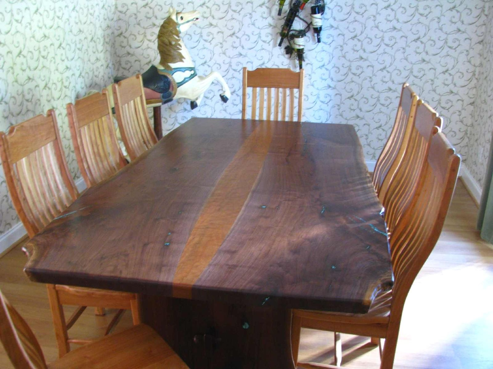 handmade natural live edge walnut slab table by haymore enterprises inc. Black Bedroom Furniture Sets. Home Design Ideas