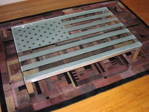Custom Made American Flag Low Table