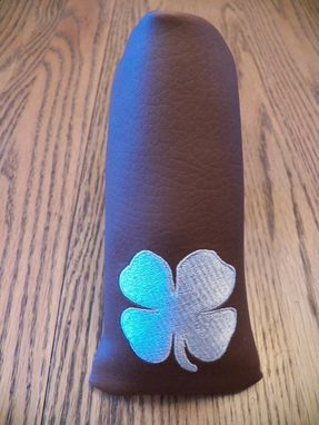 Custom Made Custom Made Putter Cover With Embroidered Four Leaf Clover