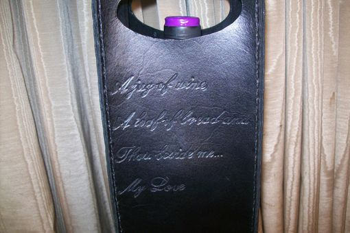 Custom Made Custom Leather Wine Bag