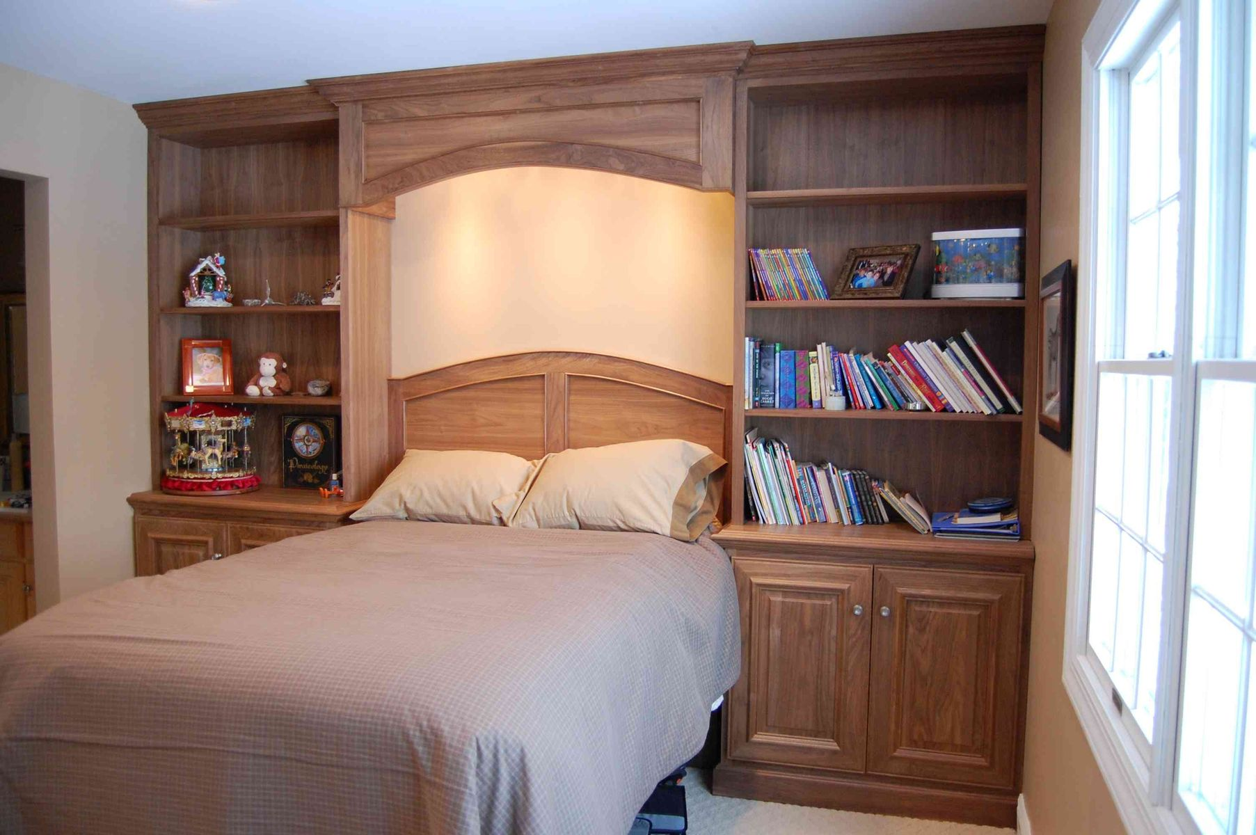 hand crafted black walnut bedroom built in by john samuel custom cabinetry. Black Bedroom Furniture Sets. Home Design Ideas