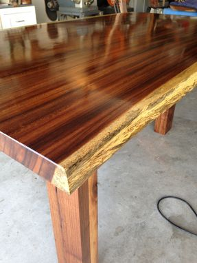 Custom Made Modern Natural Edge Desk