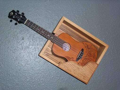 Custom Made Wooden Wall Mounted Ukulele Shelf