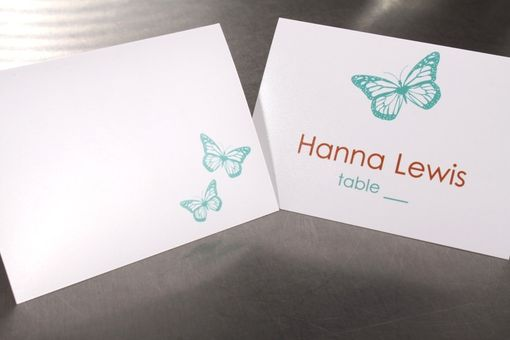 Custom Made Wedding Place Cards Escort Cards Or Seating Cards Butterfly Custom Design