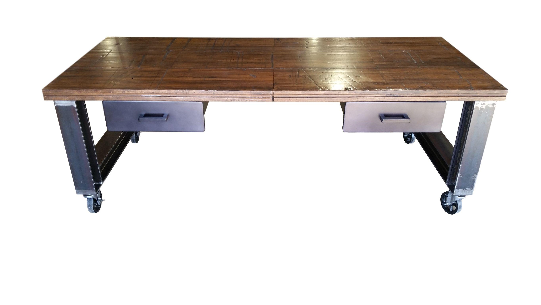 Custom Industrial Office Desk by Urban Ironcraft | CustomMade.com