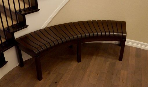 Custom Made Curved Hallway Bench