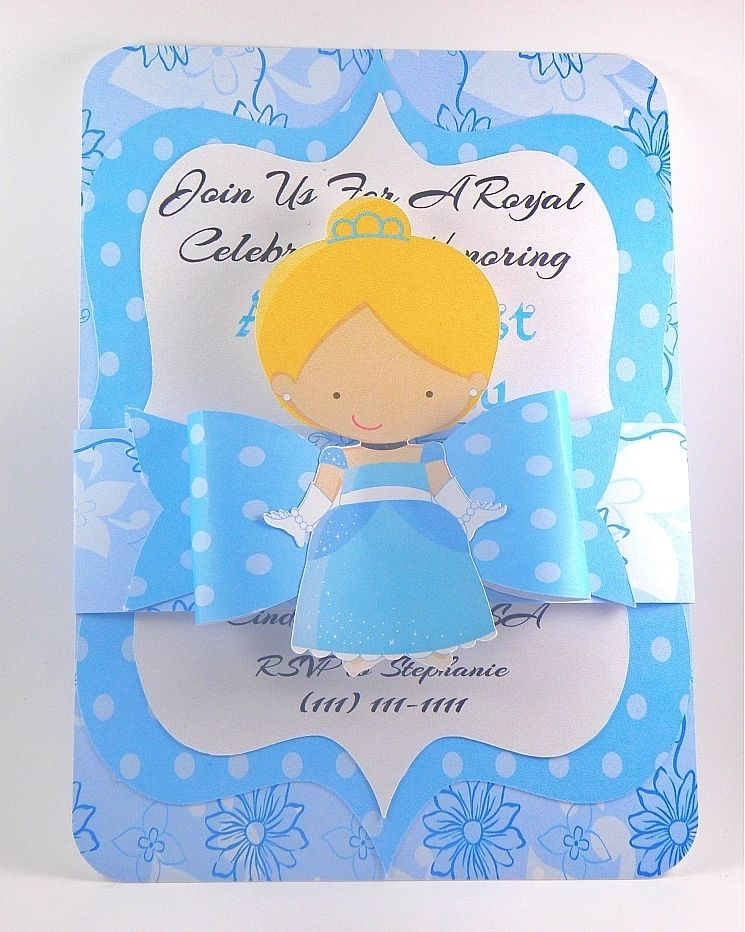 hand made cinderella inspired birthday invitation handmade, Birthday invitations
