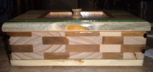 Custom Made Keepsake Box With Tile Inlay Made With Reclaimed Cedar And Pine