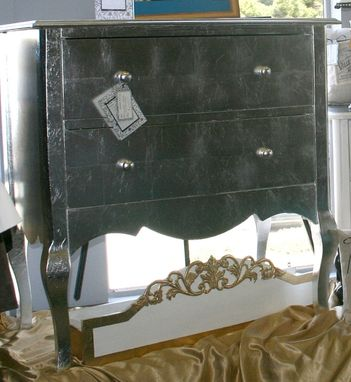 Custom Made Silver Leaf Side Table
