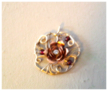 Custom Made Copper Flower
