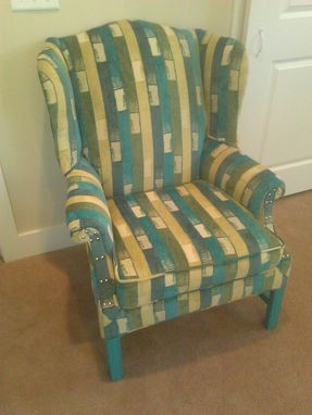 Custom Made Reupholstered Wing Chair