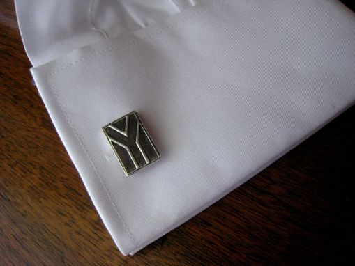 Custom Made Sterling Silver Cufflinks With South African Flag Design