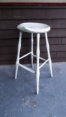 Custom Made Bar Stool Bamboo Leg Windsor Stool 29.5 Inches Tall Standing Desk Chair
