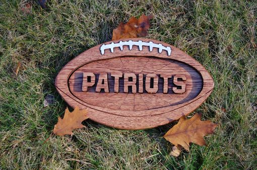 Custom Made Solid Maple Football Plaque