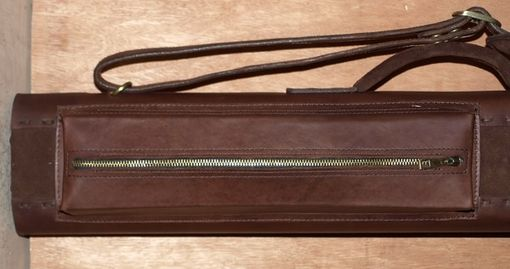 Custom Made Chocolate Love Leather Poolstick Case