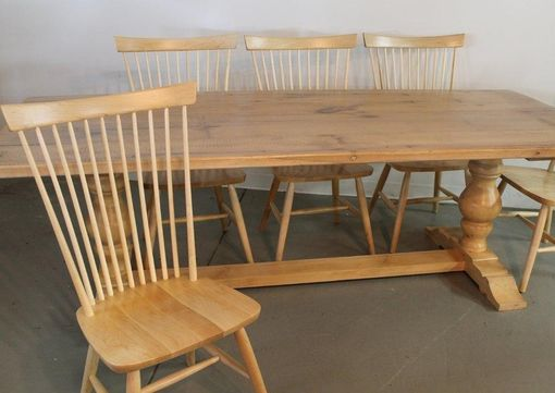 Custom Made Tuscany Style Trestle Farm Table