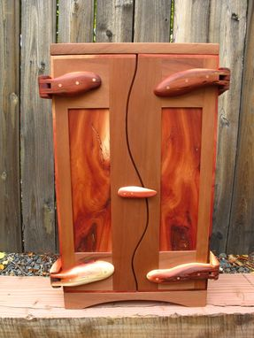 Custom Made Wall Cabinet In Giant Sequoia