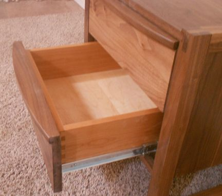 Custom Made 2 Drawer Mission Style Nightstand (Item 2d633)