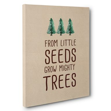 Custom Made Little Seeds Grow Nursery Canvas Wall Art