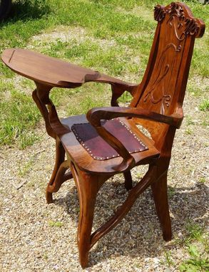 Custom Made Art Nouveau Writing Chair